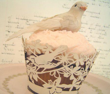 Birdie cupcake
