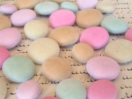 Velvet buttons