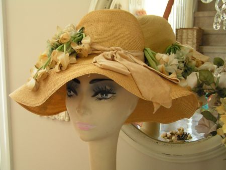 Vintage mannequin with hat