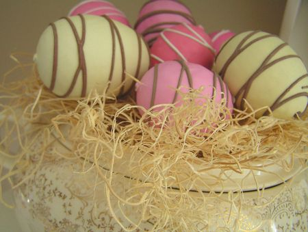 Chocolate dipped eggs