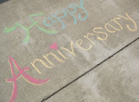 Chalk anniversary message