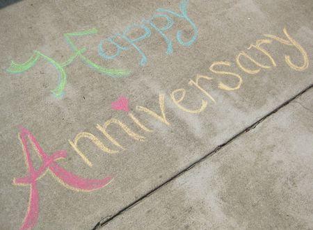 Chalk anniversary message