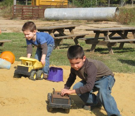 Boys in dirt