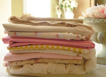 Pretty fabric pile