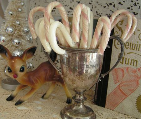 Rudolph and candy canes