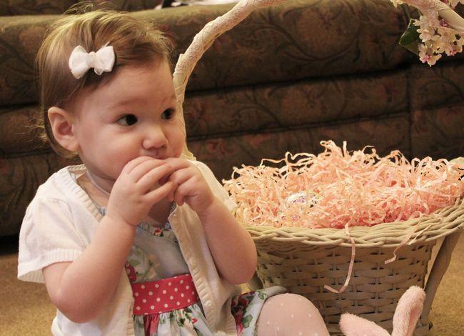 Sofia eating marshmallow