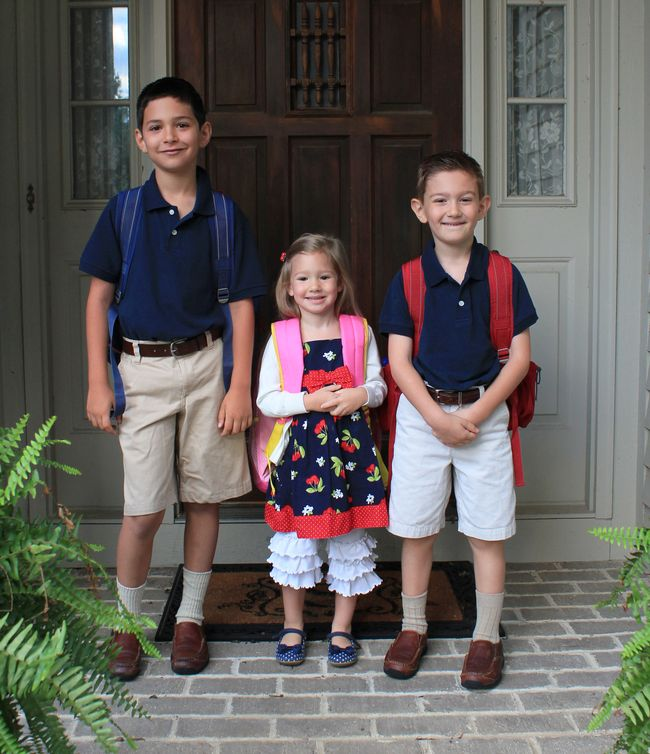 All three off to school