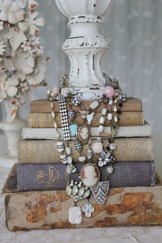 Necklaces on books