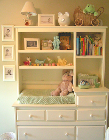 Changing table hutch
